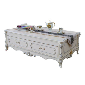 Cream Antiquate Style Teapoy - Best Wish Shopping