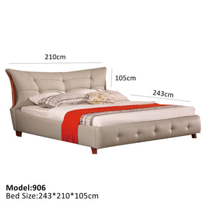 Cream European Style Bed - Best Wish Shopping