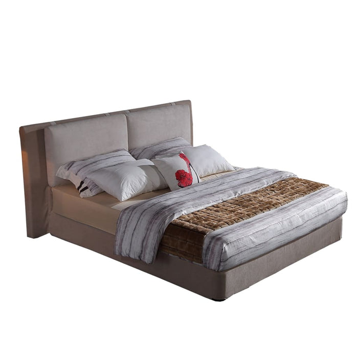 Cream Modern Grace Upholstered Bed
