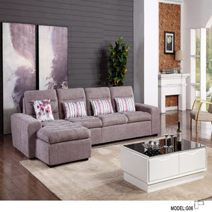 Dark Gray Tufted Corner Sofa Bed - Best Wish Shopping