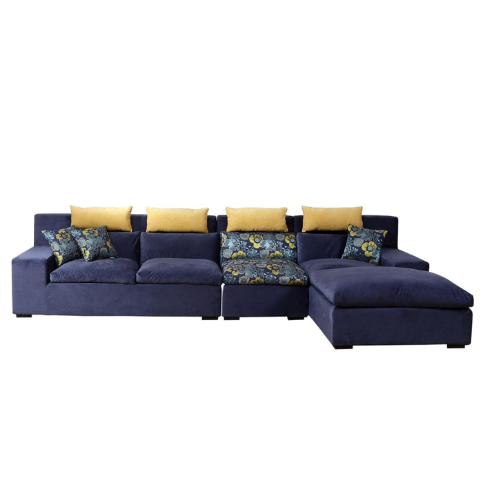 Deep Blue Corner Sofa Bed