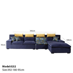Deep Blue Corner Sofa Bed - Best Wish Shopping