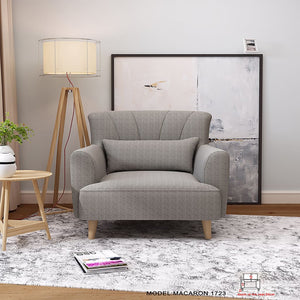 Elegant Gray lounge chair - Best Wish Shopping