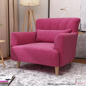Elegant Red Lounge Chair - Best Wish Shopping