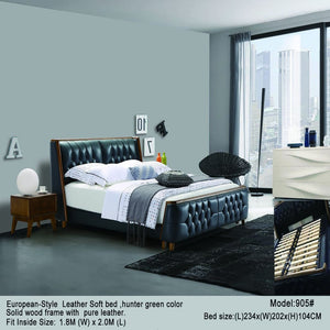 European Style Tufted Headboard Bed - Best Wish Shopping