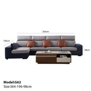 Exclusive Chaise with 3 seat sofa - Best Wish Shopping