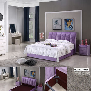Fantastic Purple Upholstered Queen-size Bed - Best Wish Shopping