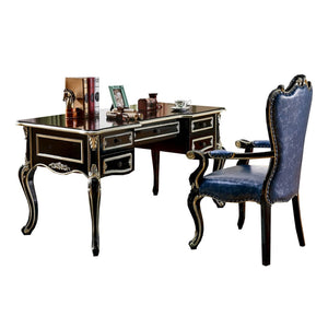 Five drawer accent home Desk - Best Wish Shopping