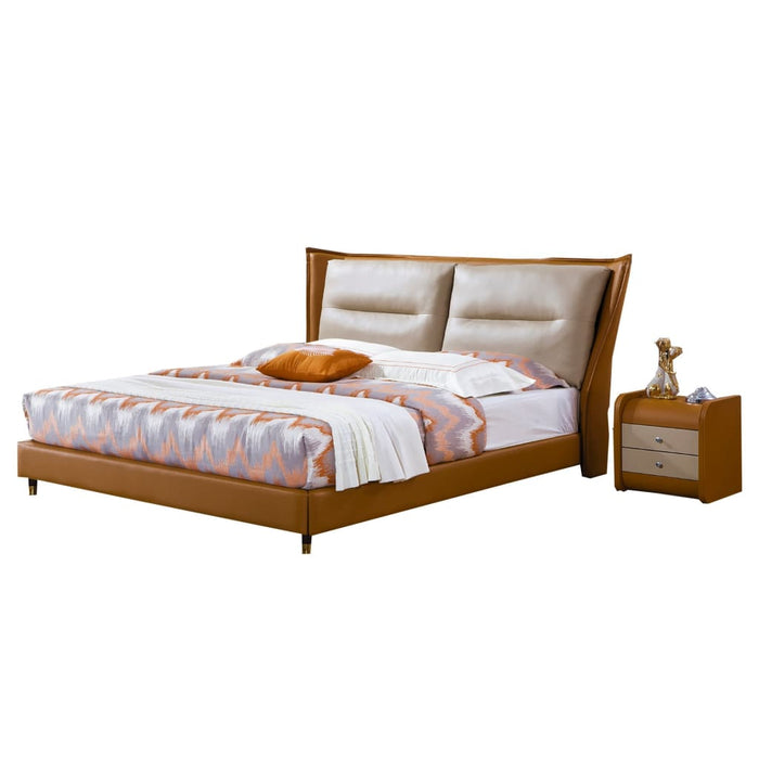 Gaitan Upholstered Panel Bed with Nightstand