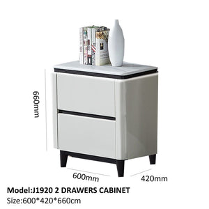 Gloss coated 2 drawer cabinet - Best Wish Shopping