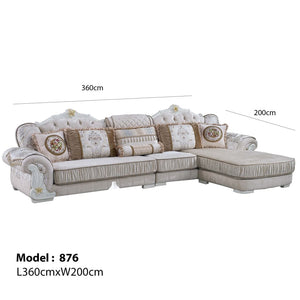 Golden Snow Sofa Chaise Bed - Sofa Chaise