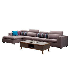 Gravette Tufted Upholstered 1 seat +3 seat+ Left chaise sofa - Best Wish Shopping