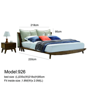 Gray High Pillow Platform Bed - Best Wish Shopping