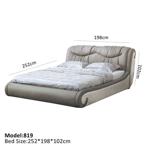 Gray Leather Platform Bed - Best Wish Shopping