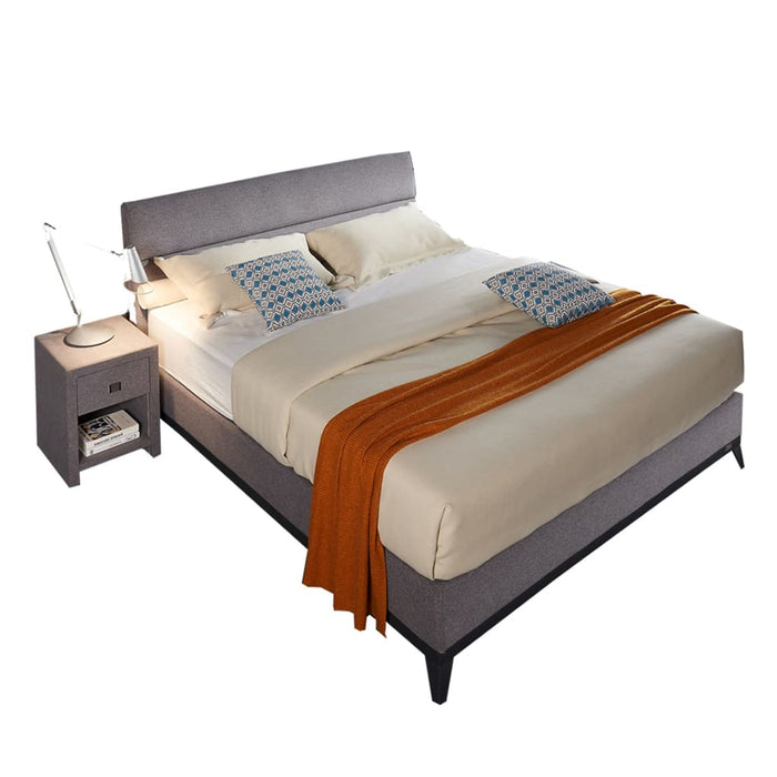 Gray Louella Platform king-size Bed