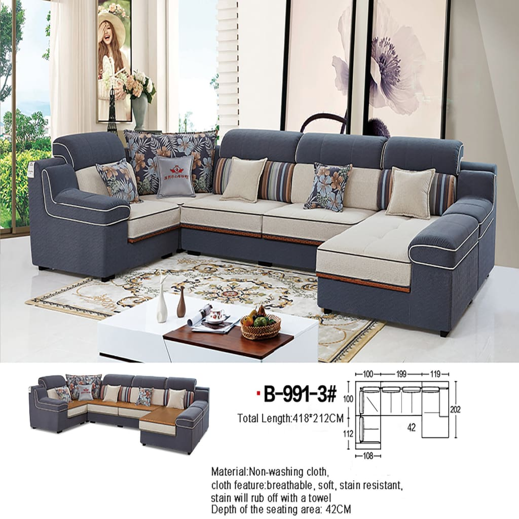 High Quality Sectional Sofa with Durable Design