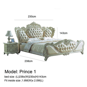 Imperial Style Prince Tufted Bed - Best Wish Shopping