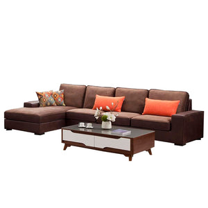 Jack Hand-crafted Single seat+ Triple seat+ Left chaise sofa - Best Wish Shopping