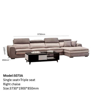 Kastrol Upholstered Chaise Sofa Bed - Best Wish Shopping