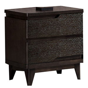Leroy Black Matte 2drawer Cabinet - Best Wish Shopping