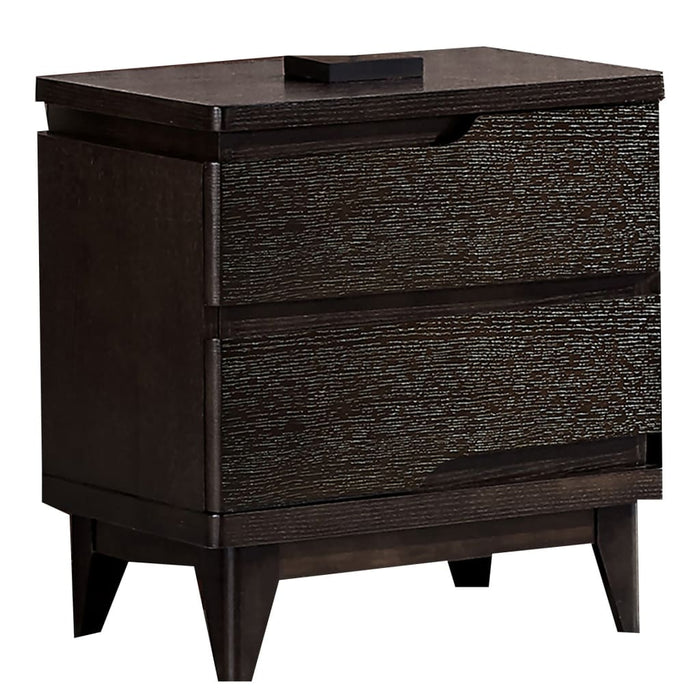 Leroy Black Matte 2drawer Cabinet