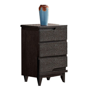 Leroy Black Matte 3 drawer Cabinet - Best Wish Shopping