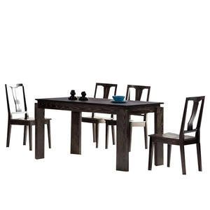 Leroy Black Matte Dining Table - Best Wish Shopping