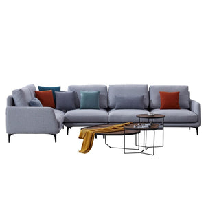 Lovely Ash Sofa Chaise with Armrest - Best Wish Shopping