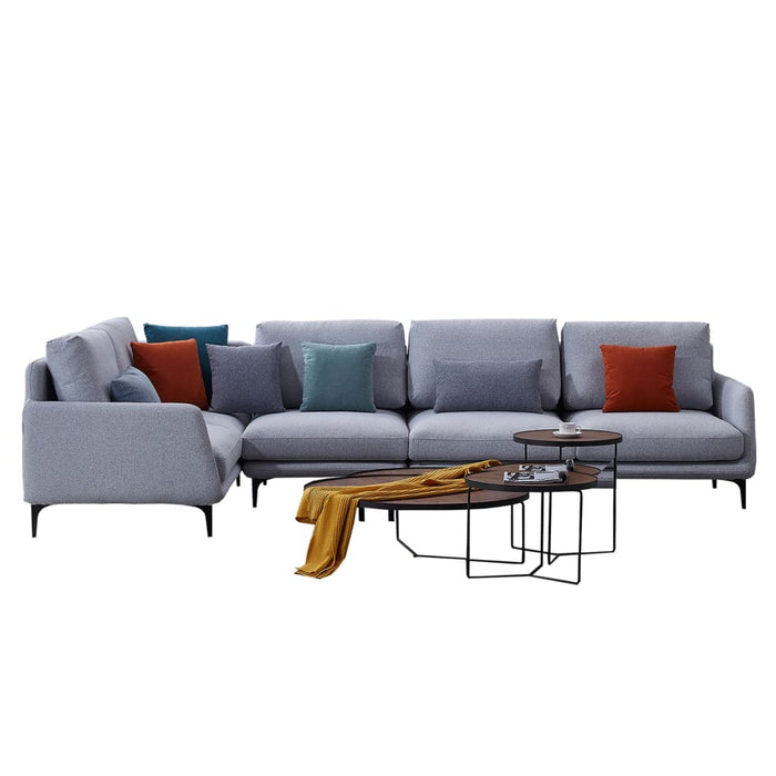 Lovely Ash Sofa Chaise with Armrest