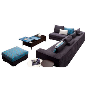 Luxurious 3 Double Seat+ Footstool Sofa Set - Best Wish Shopping
