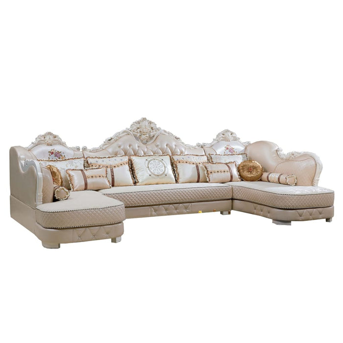 Luxurious 3 Seat + Chaise (Bed)