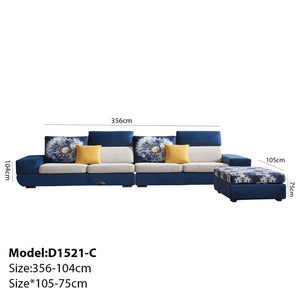 Luxurious Blue and white Sofa Bed - Best Wish Shopping