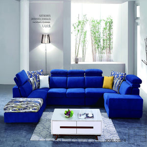 Luxurious Blue Sofa Bed - Best Wish Shopping