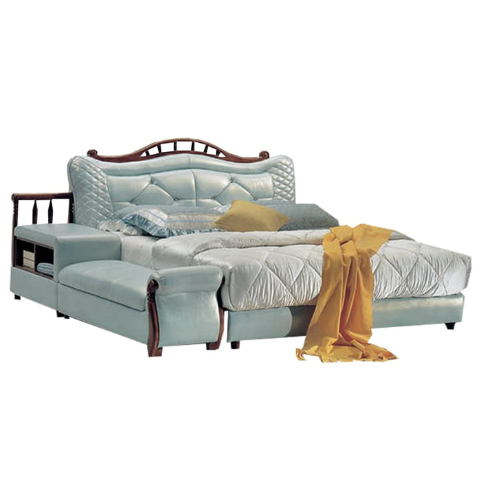 Magnificent Daisy Soft Platform Bed with Sofa and Shelves