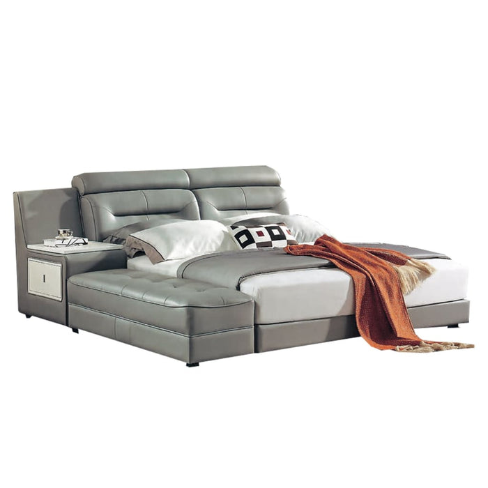 Mirabel  Leather Platform Bed