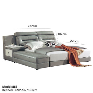Mirabel  Leather Platform Bed - Best Wish Shopping