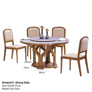 Benchwright Pedestal Dining set