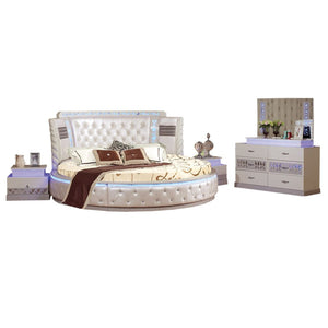 Modern Round Bedroom designed with compact six pull-out drawers - Best Wish Shopping