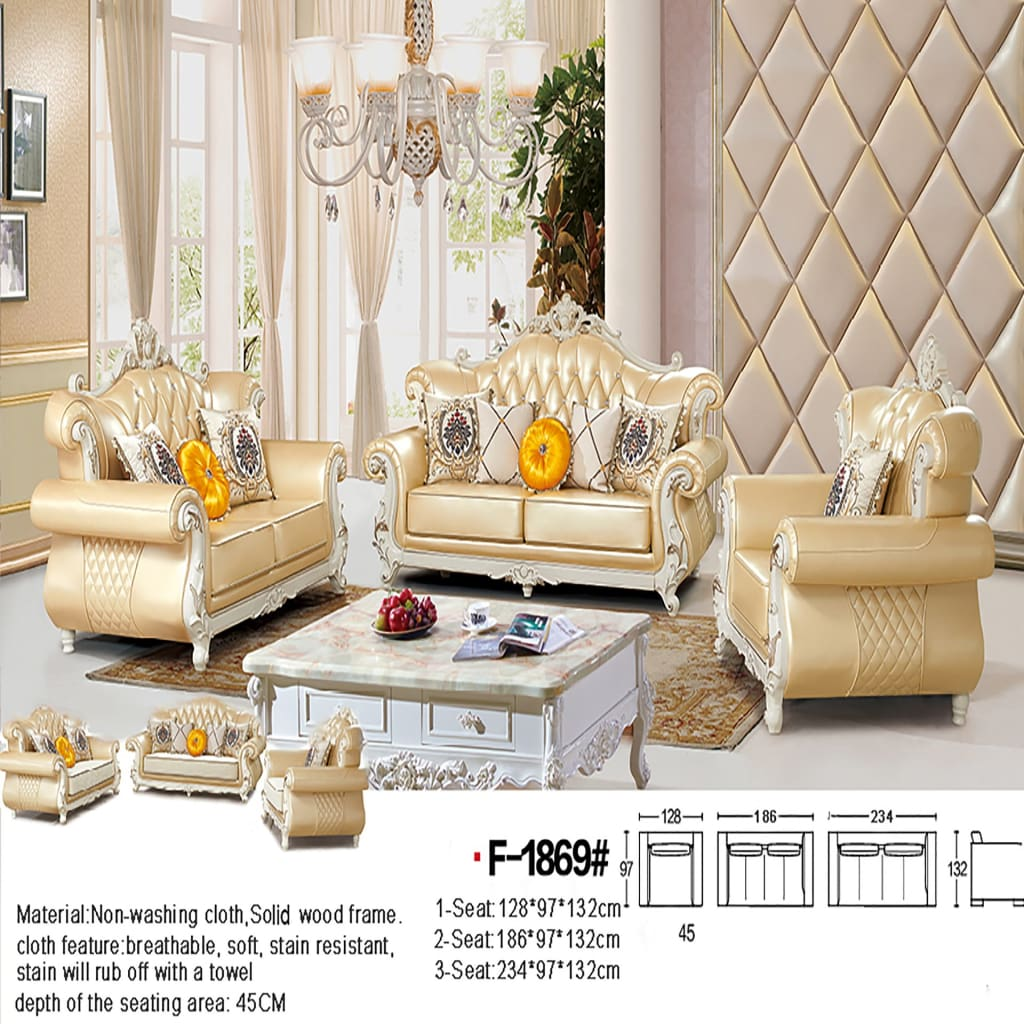 Modern Sectional Sofa Set With Sturdy Leather