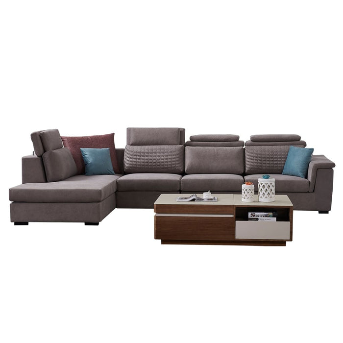 Modular Ash color  sofa chaise +  3-seat+sofa-bed