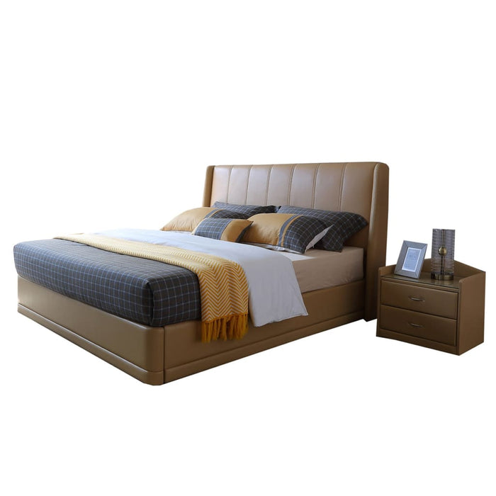 Multilayered Upholstered Platform Bed