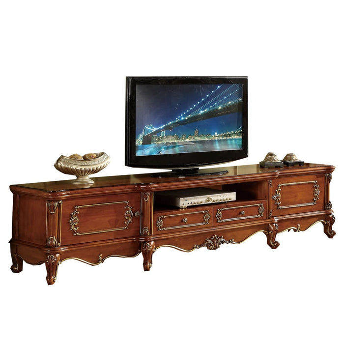 Natural Wood TV Cabinet
