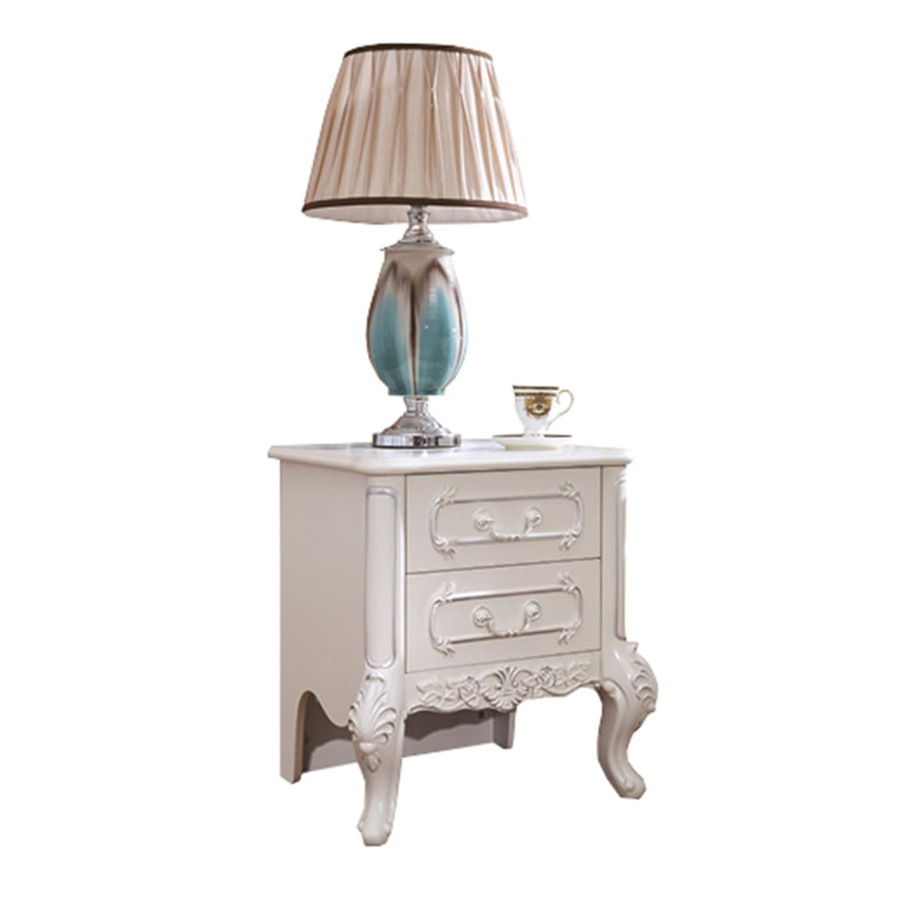 Off White Two Drawers Night Stand