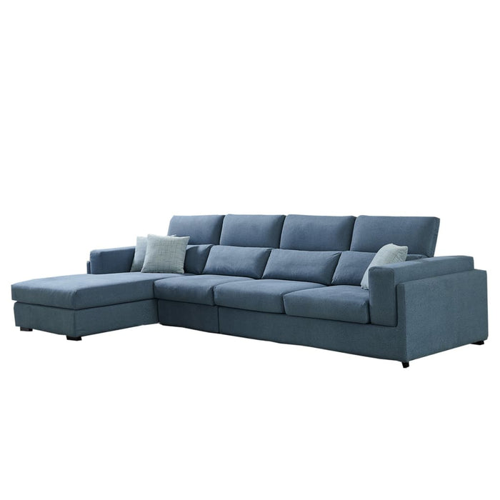Oslo Grayish Blue Sectional Sofa