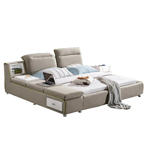 Phoenix Upholstered Bed with Nightstand - Bed