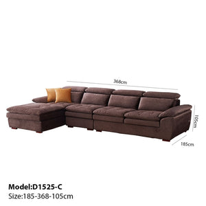Plump Brown Sofa Bed - Sofa Chaise