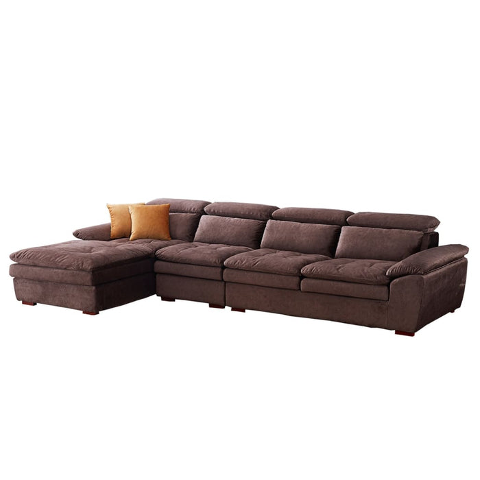 Plump Brown Sofa Bed