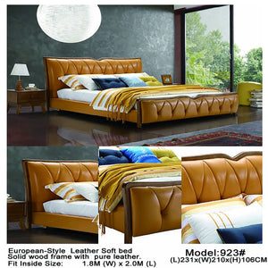 Polish Brown European Style Bed - Bed