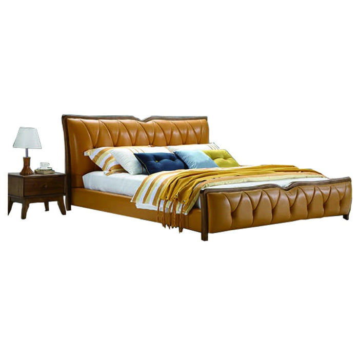 Polish Brown European  Style Bed