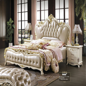 Pressure Relief upholstered Panel Bed and Night stand - Bed